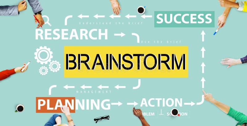 Planification de réunion d'échange d'idées partageant le concept de pensée illustration de vecteur