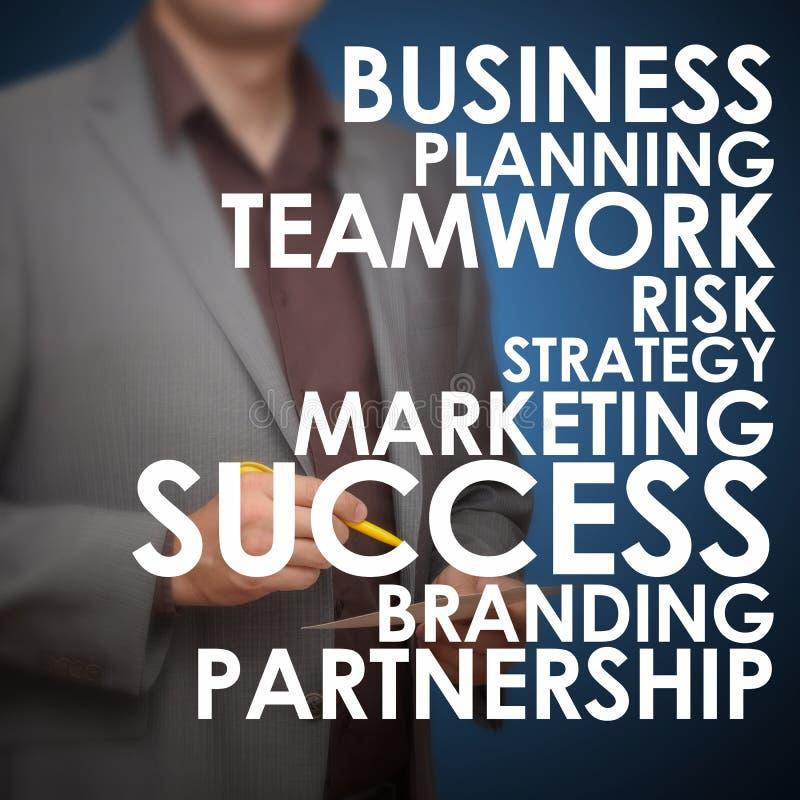 Planification des affaires en avant image stock