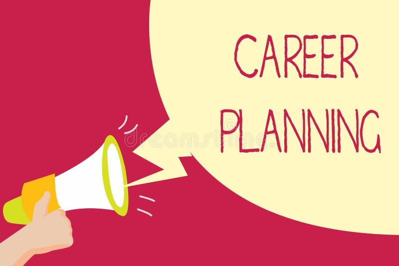 Planification des carrières d'écriture des textes d'écriture Concept signifiant la liste d'A de buts et des mesures que vous pouv images libres de droits