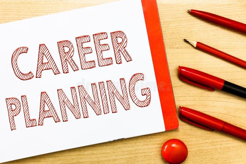 Planification des carrières d'écriture des textes d'écriture Concept signifiant la liste d'A de buts et des mesures que vous pouv photographie stock