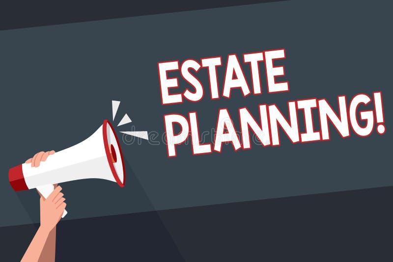 Planification des textes d'écriture de Word Concept d'affaires pour des propriétés d'hypothèque de régime de retraite d'investiss illustration libre de droits