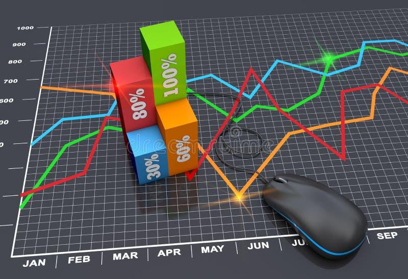 Planification du marché illustration libre de droits