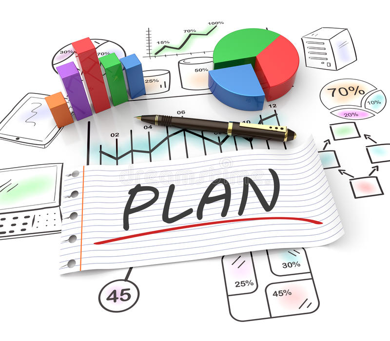 Planification du marché illustration stock