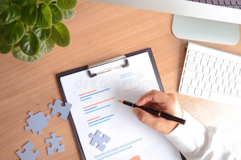 Planification et stratégie dans les affaires photo stock