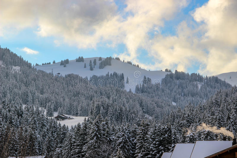 Planihubel, Saanenmöser, Svizzera immagini stock libere da diritti