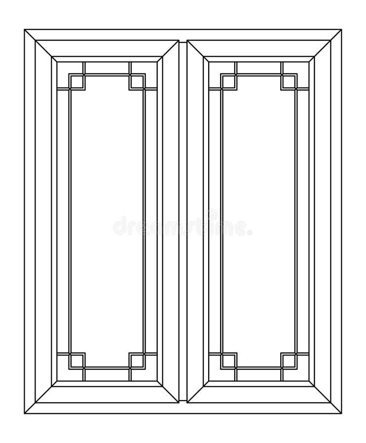 Planimetrisch venster royalty-vrije stock foto's