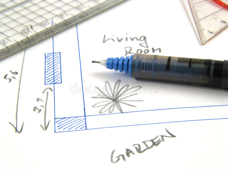 Planing your home stock photo