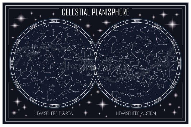 Planisferio celestial libre illustration