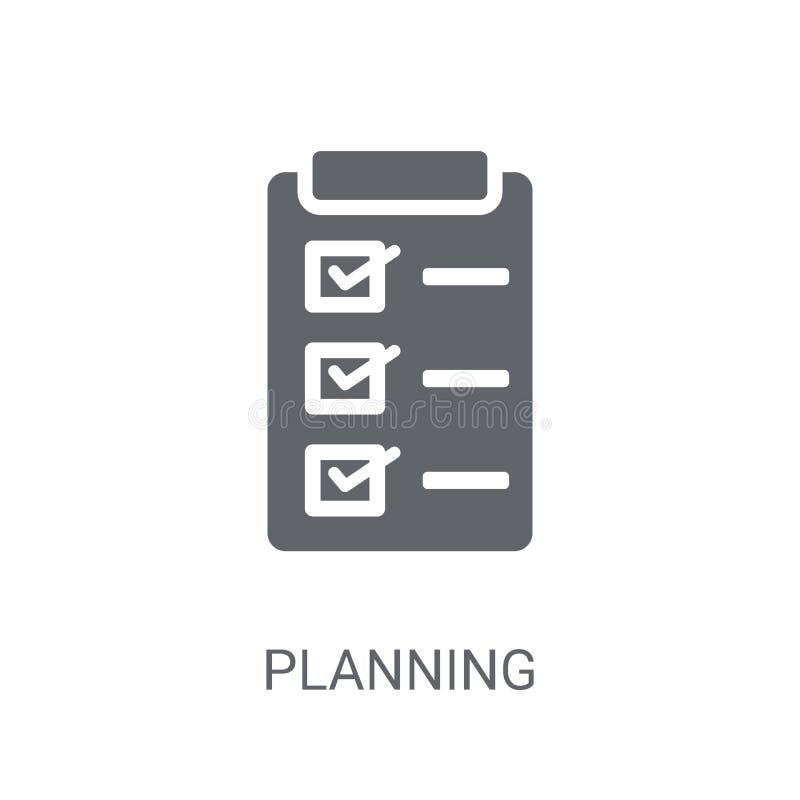 Planistyczna ikona Modny Planistyczny logo pojęcie na białym tle ilustracji