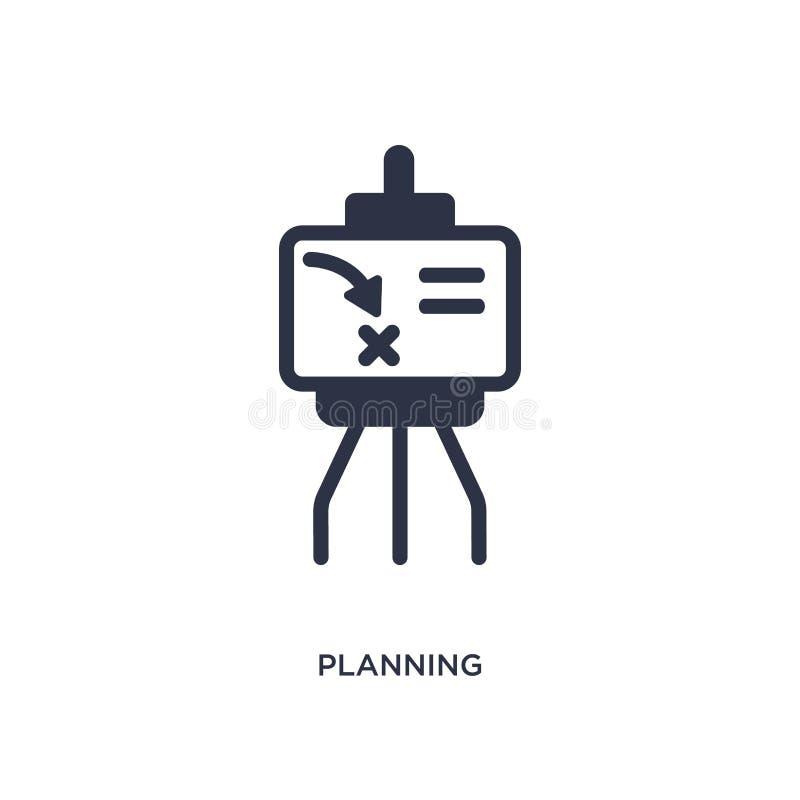 planistyczna ikona na białym tle Prosta element ilustracja od strategii pojęcia royalty ilustracja