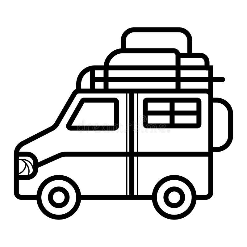Planistyczni wakacje, podróż samochodem, temat, Światowy podróży, wakacje letni, turystyki i wakacje, ilustracji