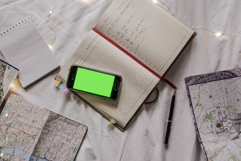 Planistyczny materiał Notatnika i papieru planista obrazy stock