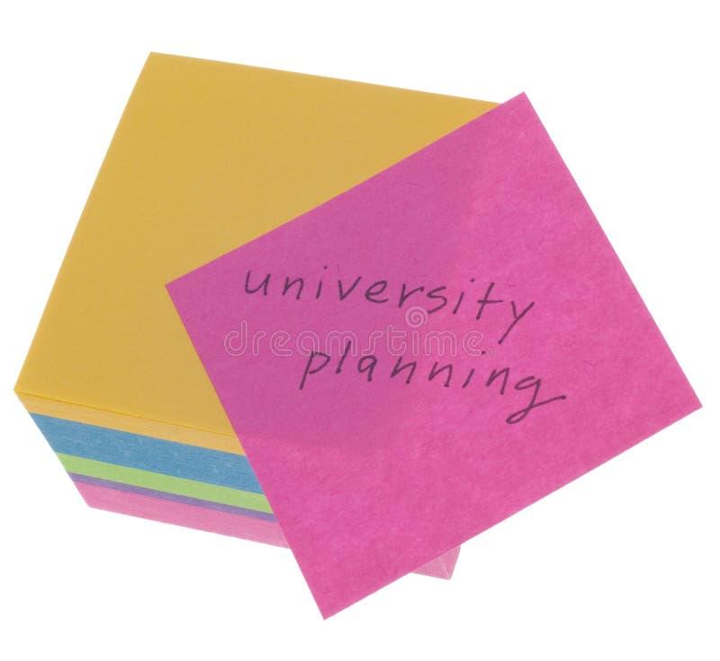 planistyczny pojęcie uniwersytet fotografia stock