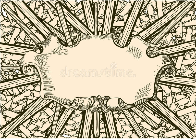 Download Plank stock vector. Illustration of desk, banner, lumber - 16905265
