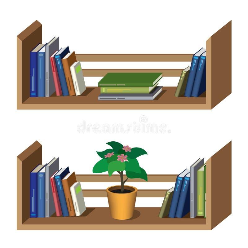 Plank met boeken vector illustratie