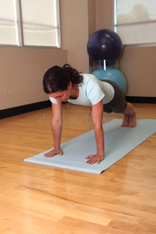 Download Plank pose pushup stock image. Image of loss, focus, foot - 25395471