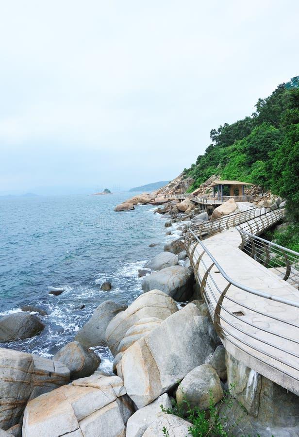 Plank road at seaside