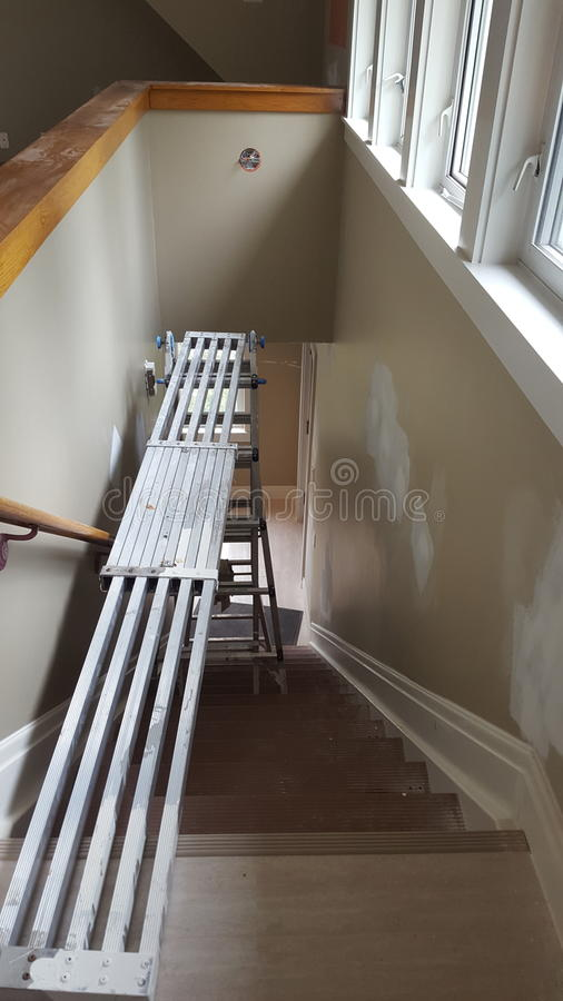 Planke und Leiter stockfotos