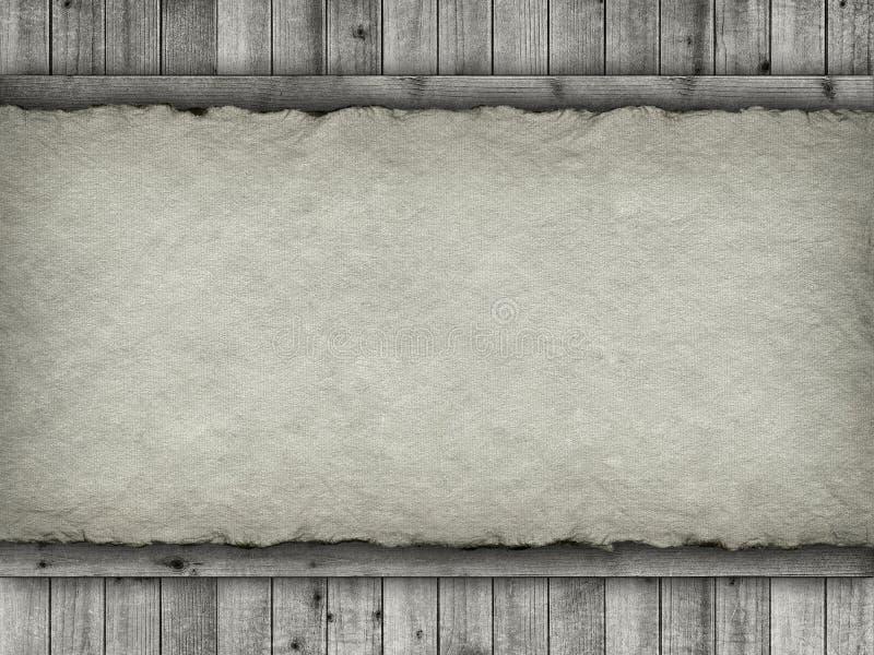Planken en met de hand gemaakte document achtergrond stock foto