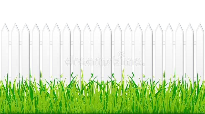 Planks on backyard. Wooden planks on backyard vector stock illustration