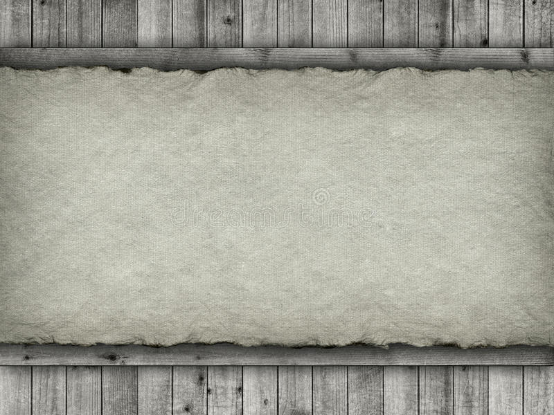 Planks and handmade paper background stock photo