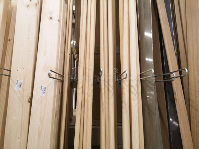 Planks-Listen der verschiedenen Arten von bearbeitetem und dargestelltem Holz stockbilder