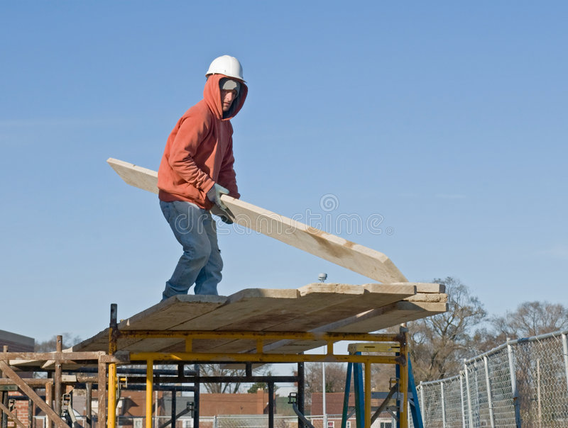 Planks For Scaffolding Stock Image