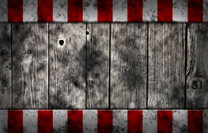 Planks with warning stripes stock illustration