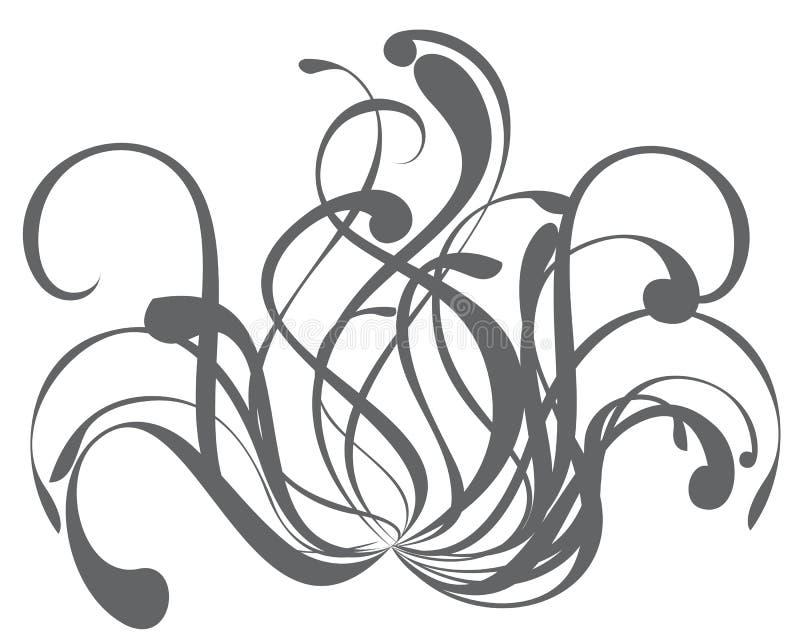 planlägg blom- element stock illustrationer