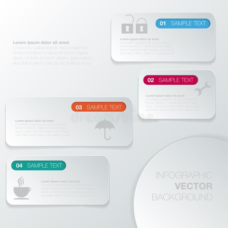 Planlägg diagrammet för nummerbanermallen eller websiteorienteringen vektor illustrationer