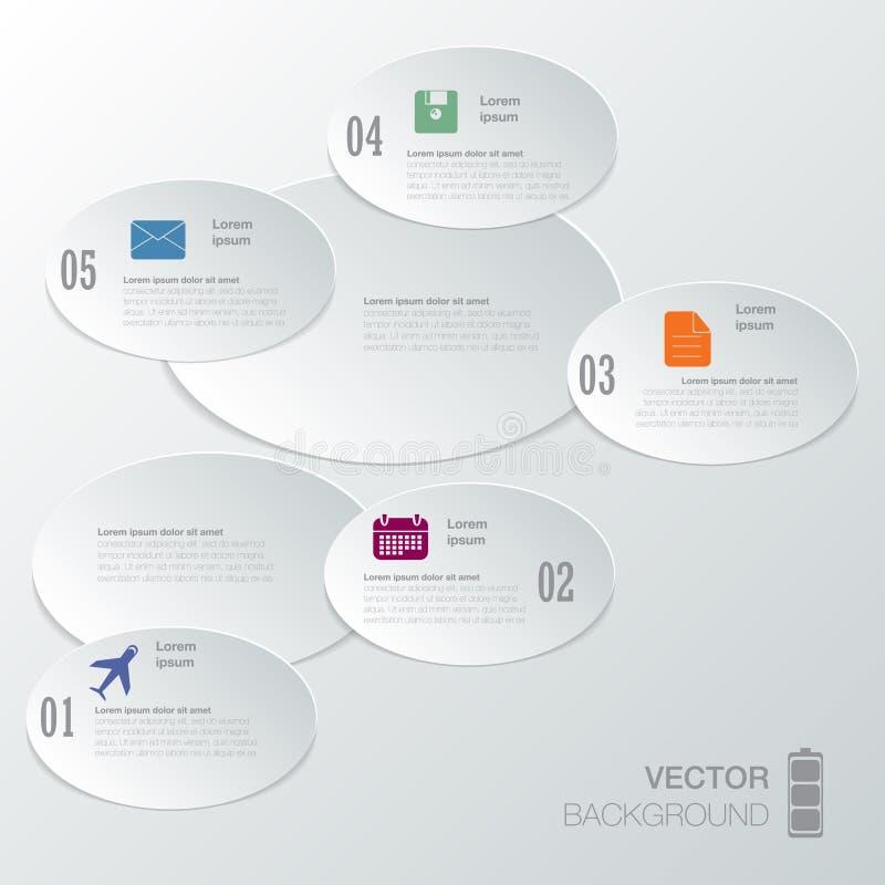Planlägg diagrammet för nummerbanermallen eller websiteorienteringen stock illustrationer