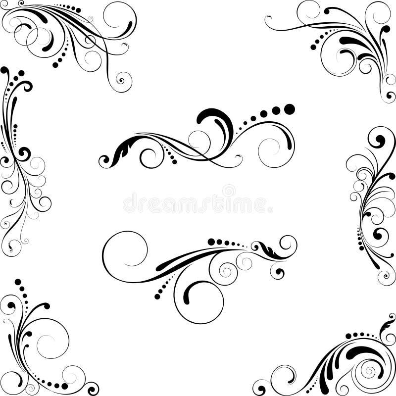 planlägg elementseten stock illustrationer