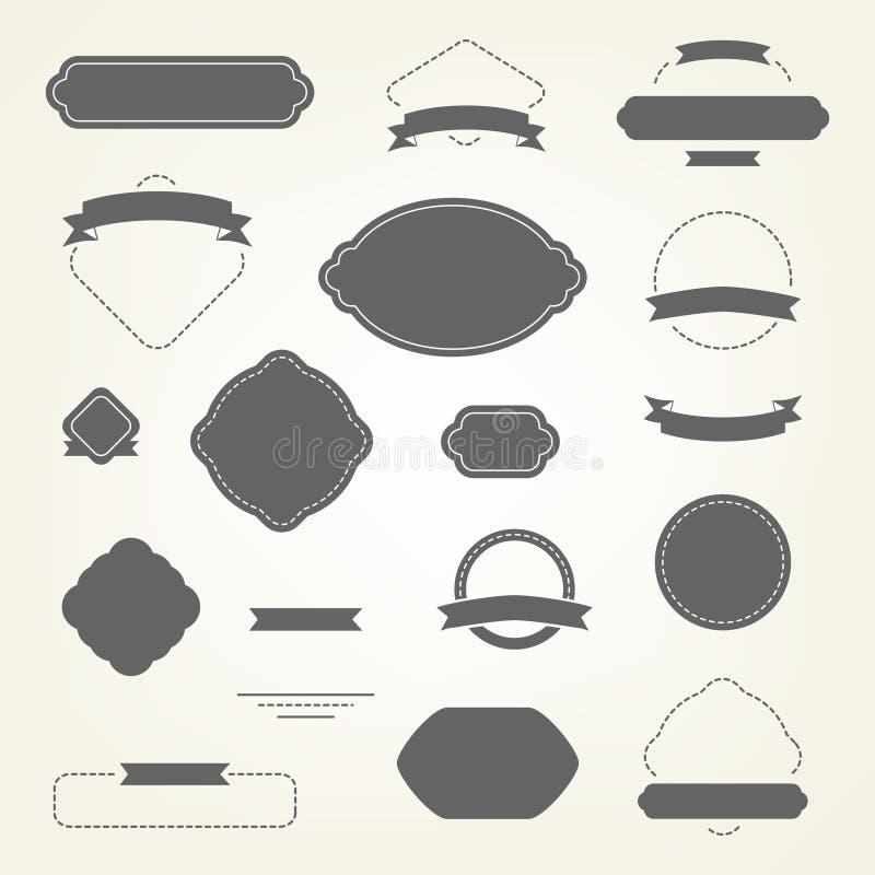planlägg elementseten royaltyfri illustrationer