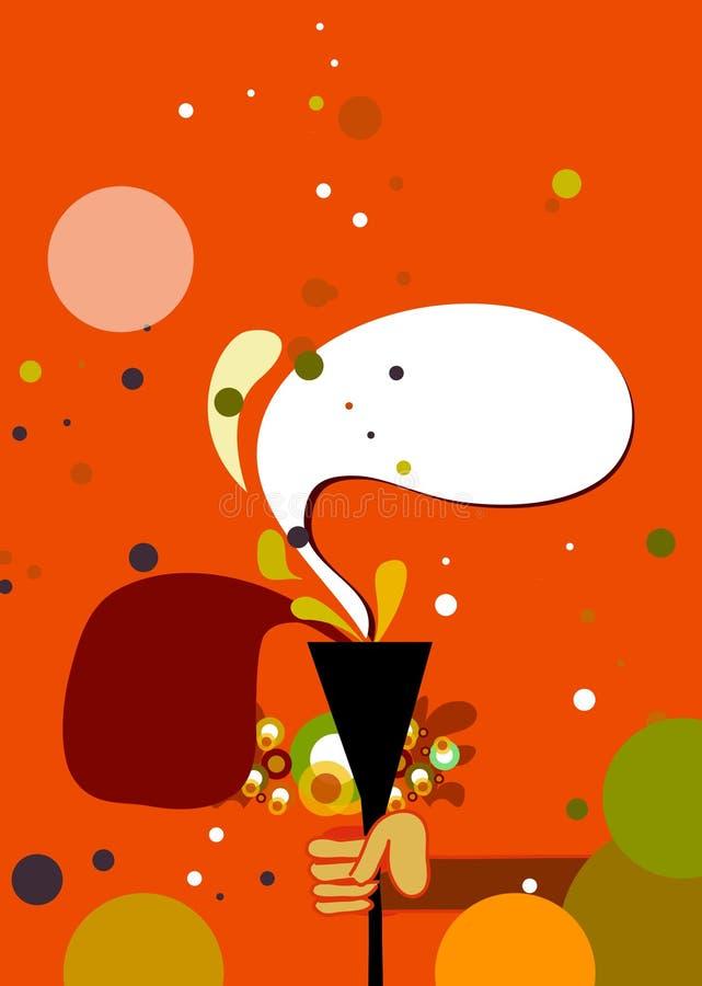 planlägg festivalaffischen stock illustrationer