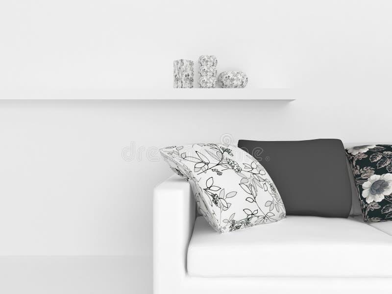 planlägg inre modernt stock illustrationer