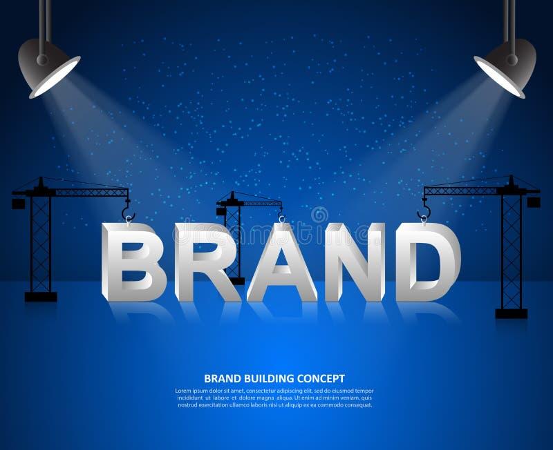 Planlägg märkesbegreppet, märkesbyggnadsbakgrund, start och skapa märket royaltyfri illustrationer