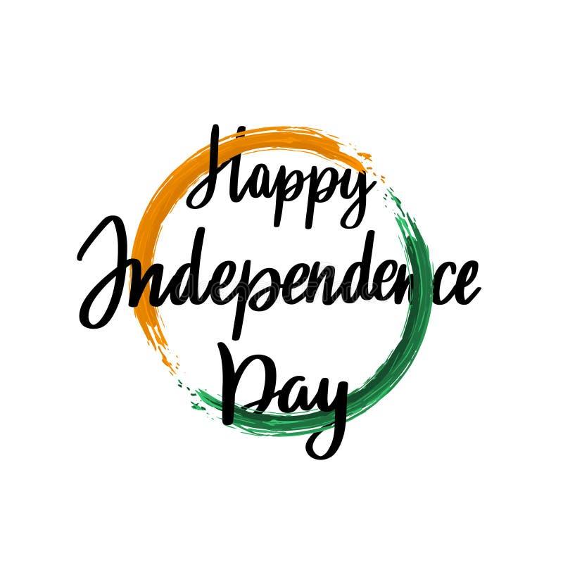 Planlägg mallen för att fira självständighetsdagen av Indien, 15th Augusti stock illustrationer