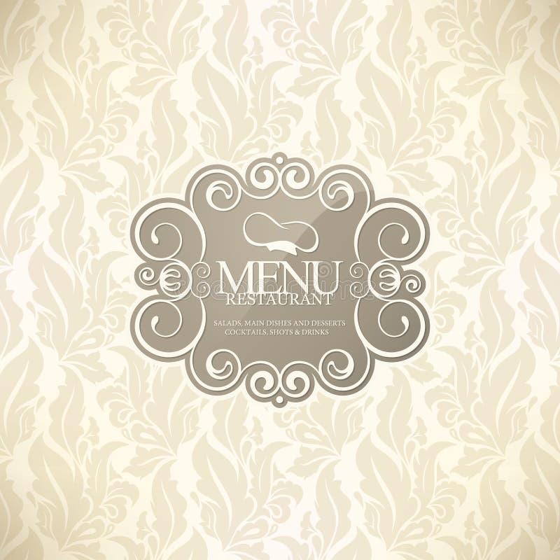 planlägg menyrestaurangen royaltyfri illustrationer