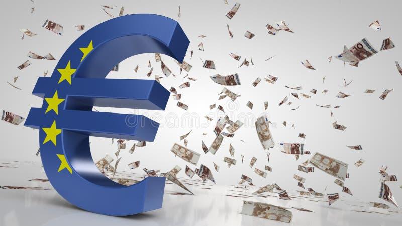 planlägg också blom- den min galleriillustrationen för euroen ser teckenteckenvektorn royaltyfri illustrationer