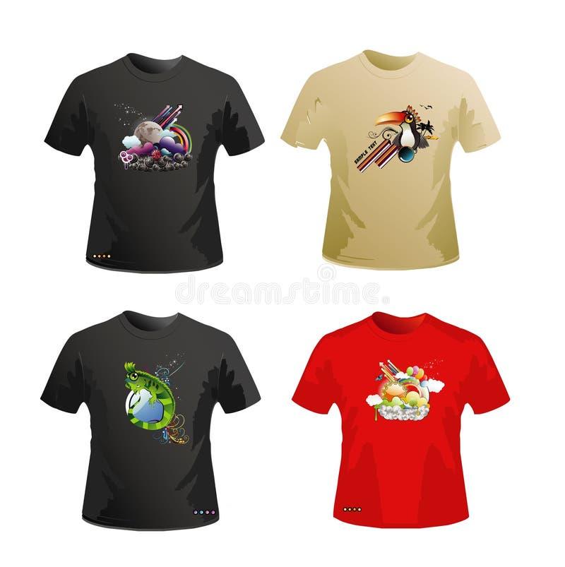 planlägg skjortavektorn royaltyfri illustrationer