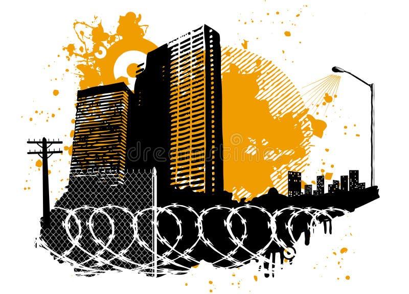 planlägg stads- stock illustrationer