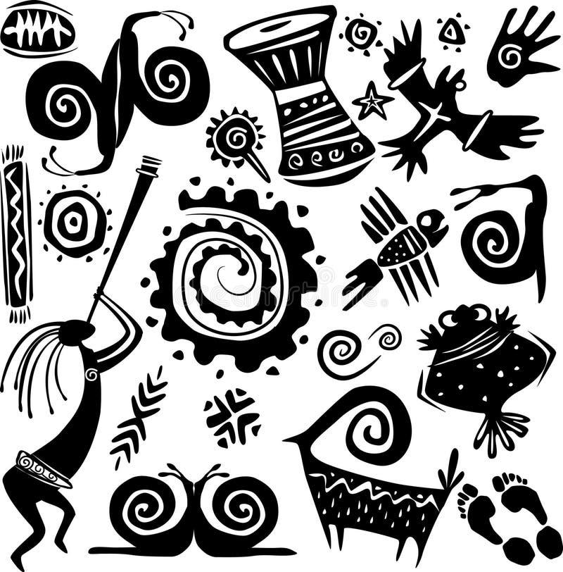 planlägga element royaltyfri illustrationer