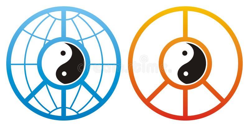 planlägger yang yin royaltyfri illustrationer