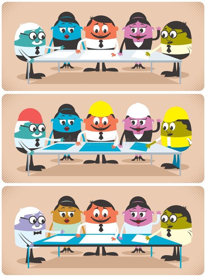 Planläggning stock illustrationer