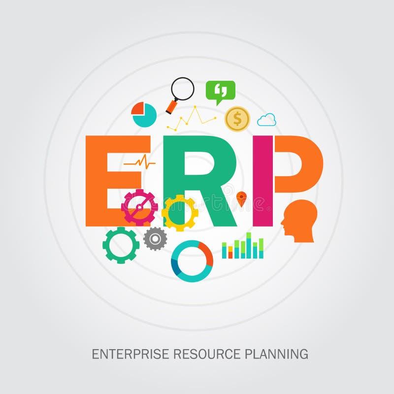 Planläggning för Erp-företagreource stock illustrationer