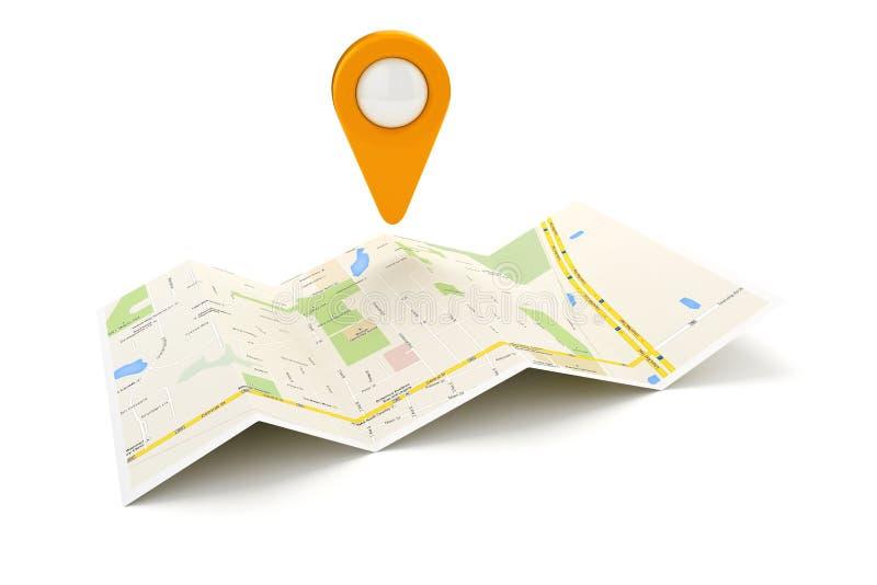 planläggning för lopp 3d och navigering stock illustrationer