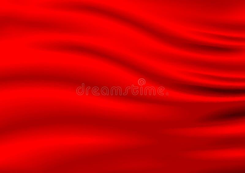 Planlade kulört tygmaterial för röd satäng bakgrund royaltyfria foton