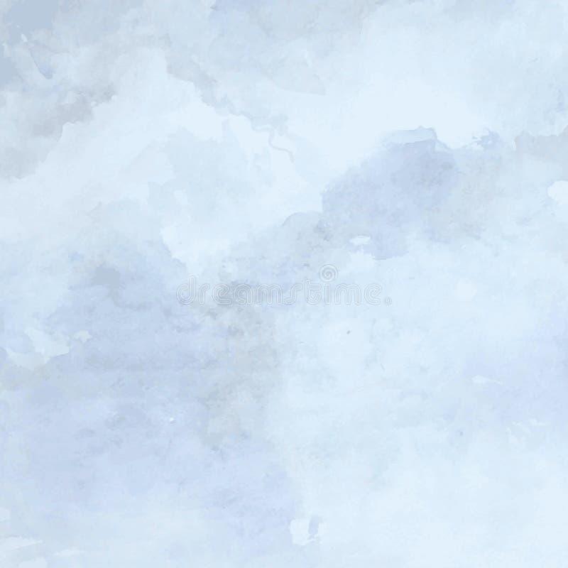Planlagd grungepapperstextur, blå konstnärlig abstrakt vektorbakgrund för vattenfärg, hand dragen stil för designbok stock illustrationer