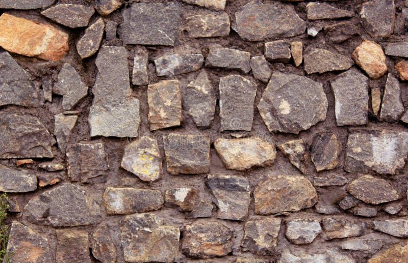 Planlagt med textur för stenvägg arkivbild