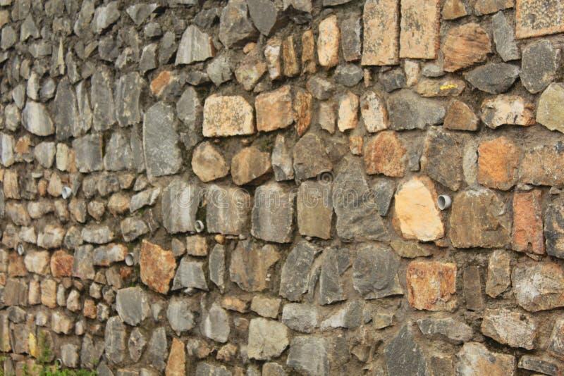 Planlagt med textur för stenvägg royaltyfri bild
